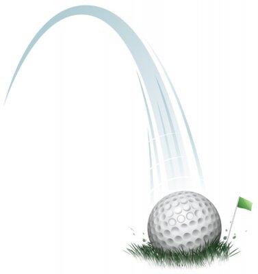 Wall mural golf ball action
