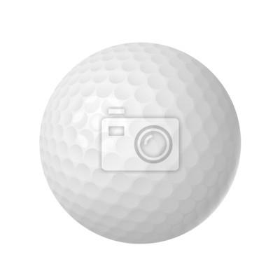 Wall mural golf ball over white
