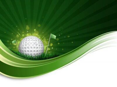 Wall mural golf ball wave