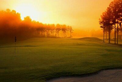 Wall mural golf course at dawn
