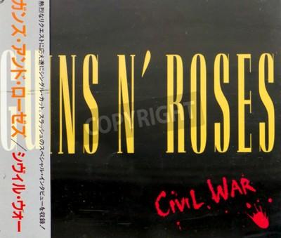 Wall mural GOMEL, BELARUS - AUGUST 18, 2015: CD GUNS N ROSES  Civil War (1993), Guns N Roses is an American hard rock band from Los Angeles formed in 1985.