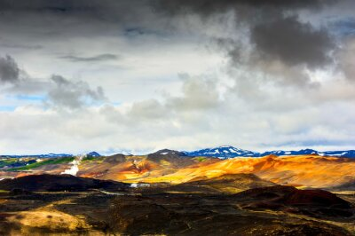 Wall mural góra świateł