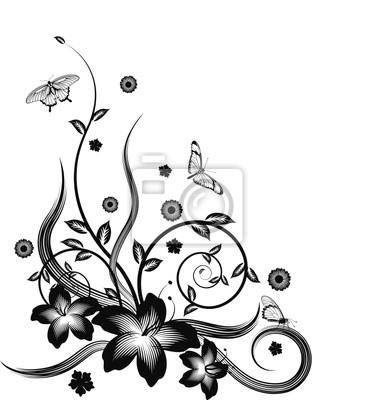 Gorgeous black corner floral design