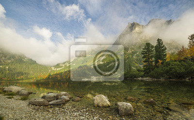 Górskie jezioro Popradske Pleso