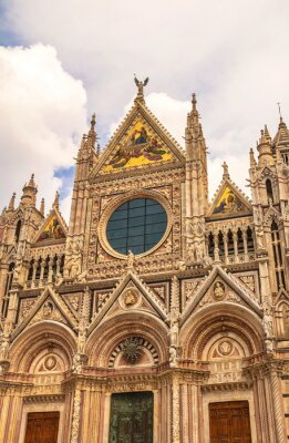 Gothic Cathedral in Siena in Italy