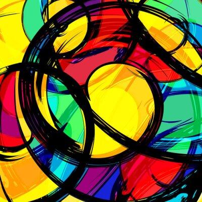 Graffiti Abstract beautiful colorful background grunge texture illustration