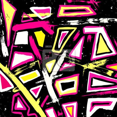 Graffiti abstract geometric background illustration