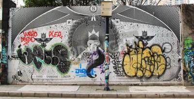 Wall mural Graffiti at Moganshan Road, Shanghai