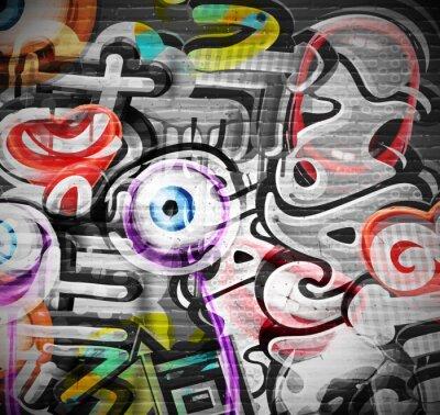 Wall mural Graffiti background