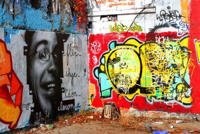 Wall mural graffiti : Background