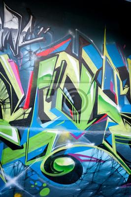 Wall mural Graffiti coloré