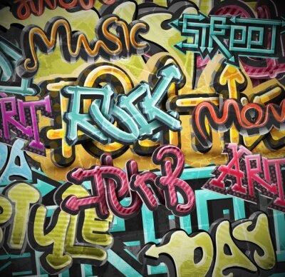 Wall mural Graffiti grunge background