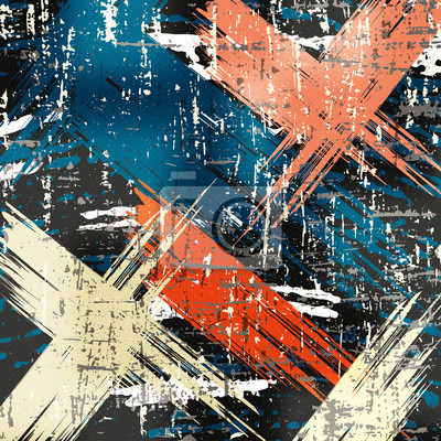 Wall mural Graffiti grunge texture abstract background illustration