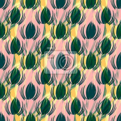 Graffiti on a geometric background seamless pattern