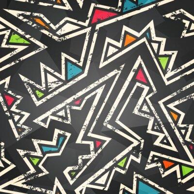 Wall mural graffiti seamless pattern