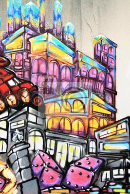 Wall mural Graffiti - Street art