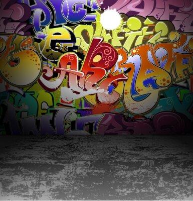 Wall mural Graffiti wall urban street art painting