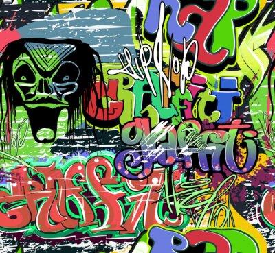 Wall mural graffiti wall vector seamless background
