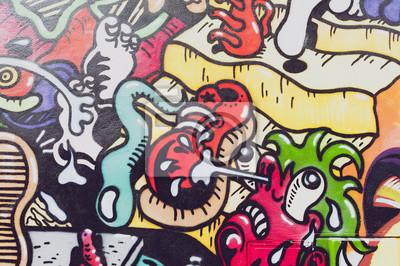 Wall mural Graffitis colorés