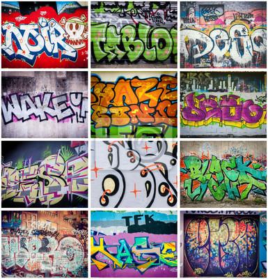 Wall mural Graffitis couleurs