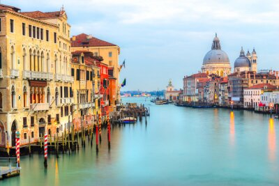 Wall mural Grand Canal and Basilica Santa Maria della Salute, Venice, Italy