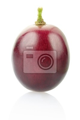Wall mural Grape berry isolated on white, clipping path included