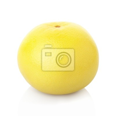Wall mural Grapefruit isolated on white, clipping path included