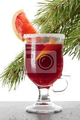 Wall mural Grapefruit Mulled Wine (Punch)