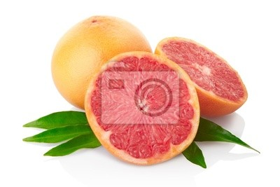 Wall mural Grapefruit with clipping path