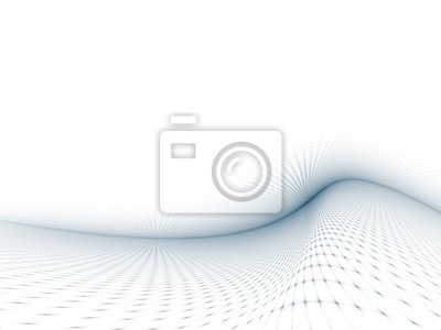 Gray-Blue Curved Grid Template