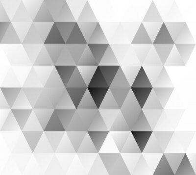 Wall mural Gray Grid Mosaic Background, Creative Design Templates