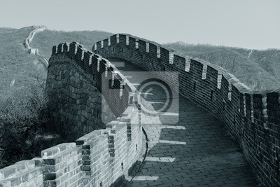Great Wall in black and white