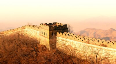 Wall mural Great Wall sunset