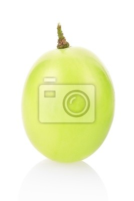 Wall mural Green grape with clipping path