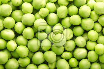 Wall mural Green peas background
