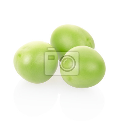 Wall mural Green peas isolated, clipping path included