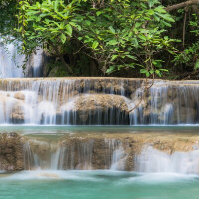 Wall mural Green Waterfall