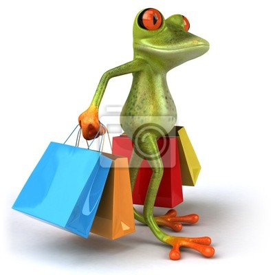 Grenouille a shopping
