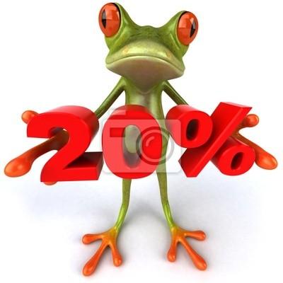 Grenouille et 20%
