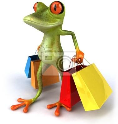 Grenouille et shopping
