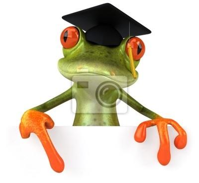 Grenouille étudiante