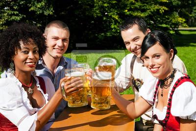 Group of friends in the beer garden