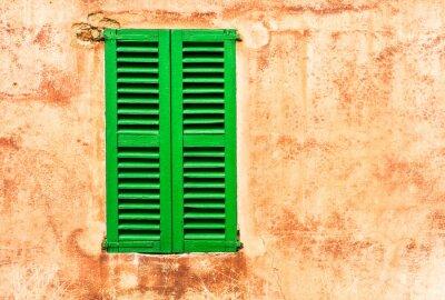 Wall mural Grüne Fensterläden Haus Wand Mediterran Wohnen