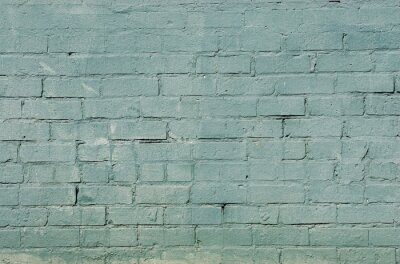 Wall mural grunge brick wall background with blue color