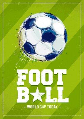 Wall mural Grunge Football Poster