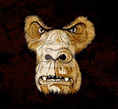 grunge gorilla face