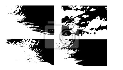 grunge texture background set, grungy overlay effect, black