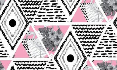 Wall mural grunge tropical  seamless pattern