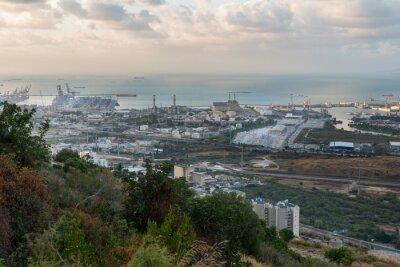 Haifa cityscape at sunset