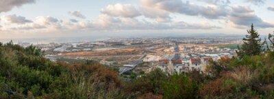 Haifa cityscape at sunset, Israel